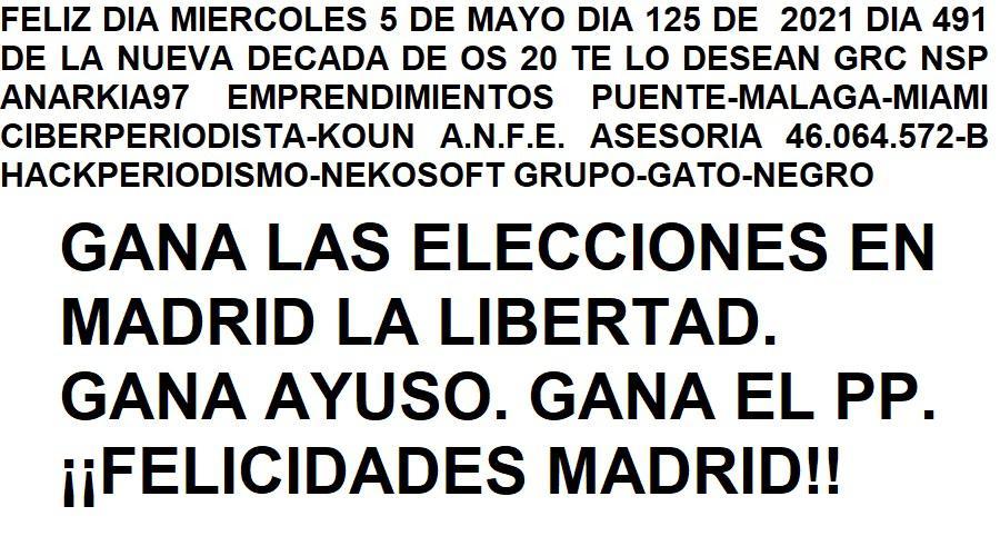 125_DIA_DE_2021_GRC_NSP_TE_DESEAN_FELIZ_MIERCOLES_5_DE_MAYO_DE_2021_DIA_491_DE_LA_NUEVA_DECADA_DE_LOS_20
